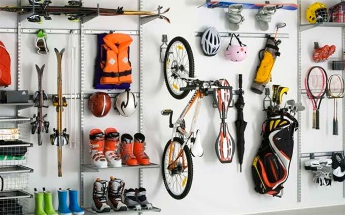 gamme d'accessoires pour ranger intelligemment vos affaires sportives