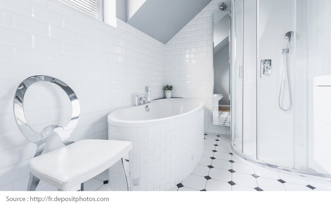 Eye-Catching White Bathrooms - 7