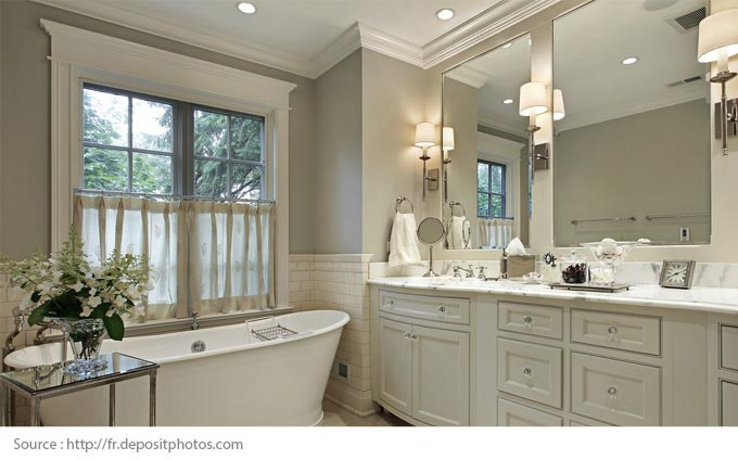 Comment mettre en valeur une salle de bains blanche? - 5