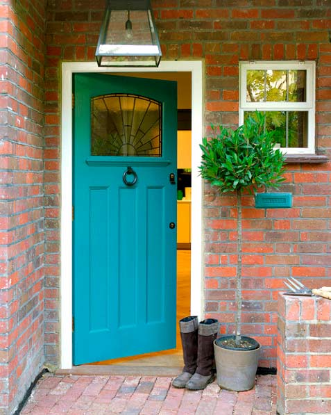 Colour matching front door and elements around