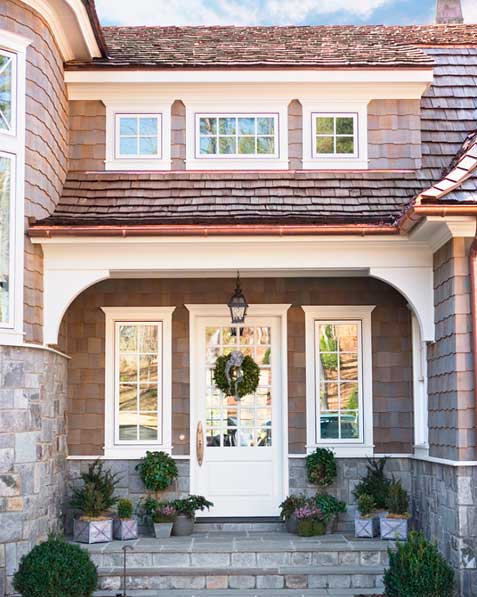 add accent windows to either side of your front door