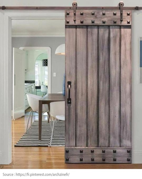 A barn door as a partition