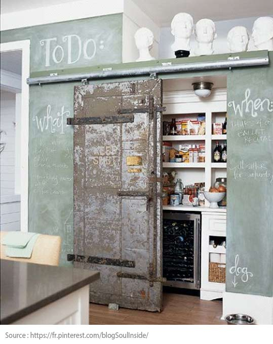 A barn door for the pantry