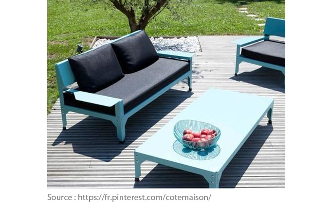 Outdoor Furniture: Stainless steel