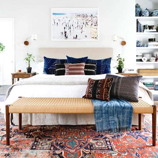 Chambre à coucher avec accessoires méditerranéen