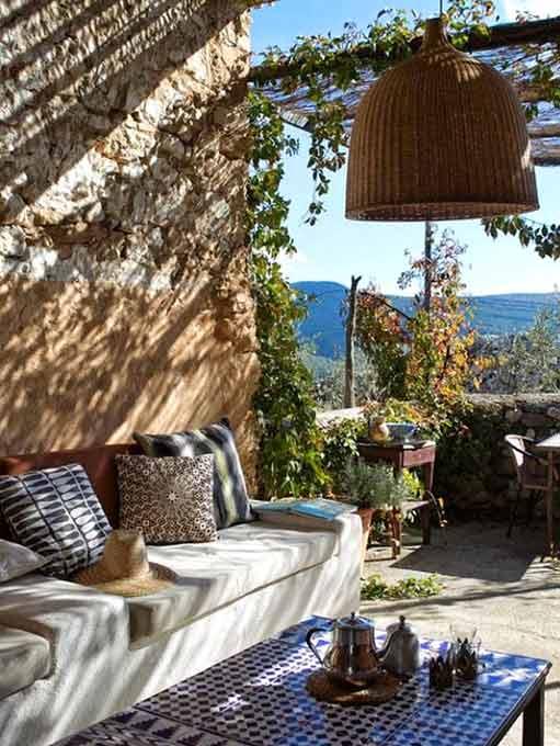 Terrasse de type méditerranéen