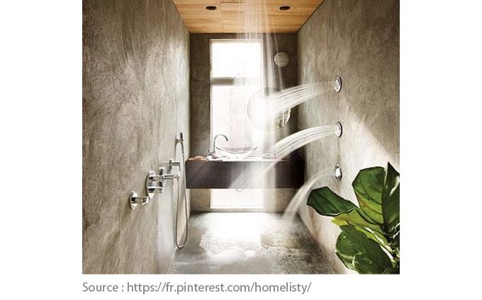 Sols pour la salle de bain - Le béton ciré