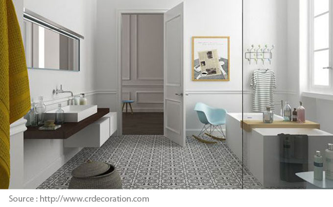 Sols pour la salle de bain - Le ciment