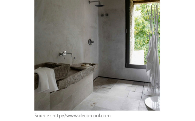Bathroom Floor Options - Concrete and stone