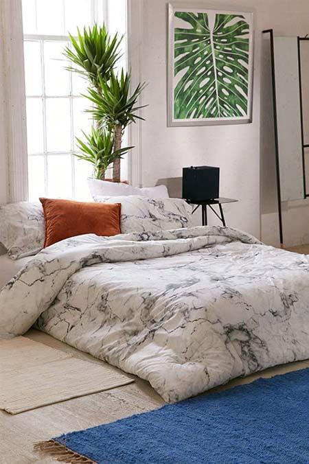 Couverture effet marbre