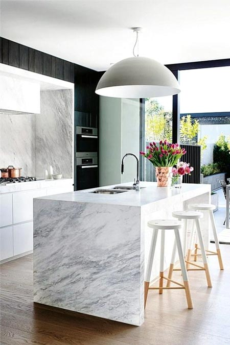 Comptoir de marbre