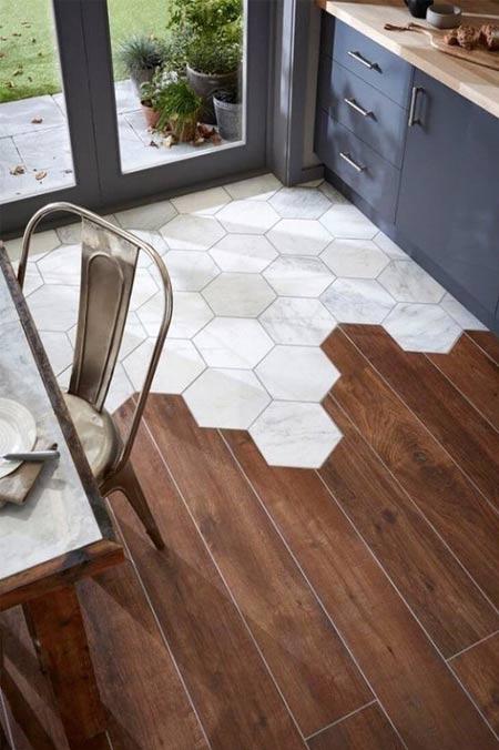 Plancher tuile de marbre