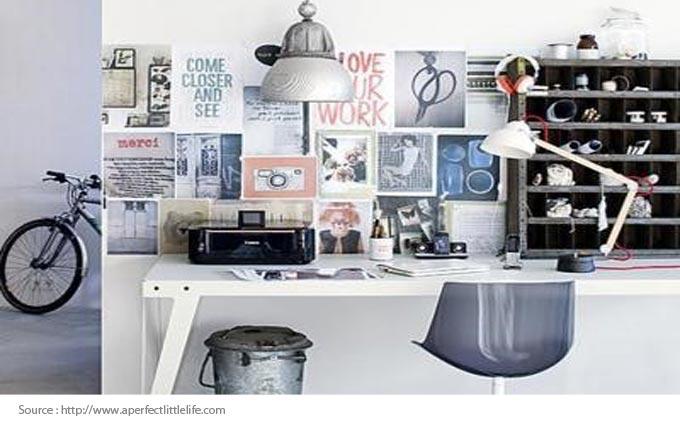 Bureau à domicile - créatif