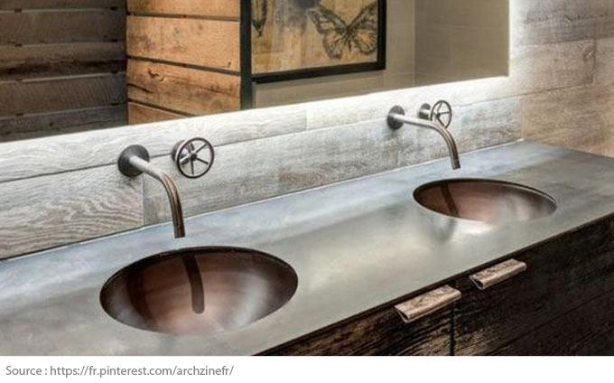 Le meuble-lavabo double - 9