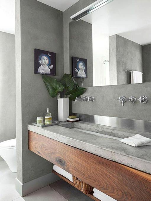Concrete accents throughout the house