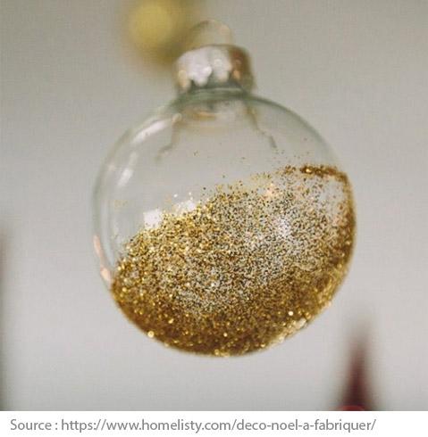 Boule de Noël avec brillants