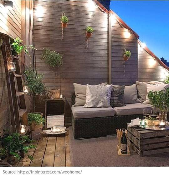 Comment bien aménager balcons et terrasses? - Pensez à l'éclairage