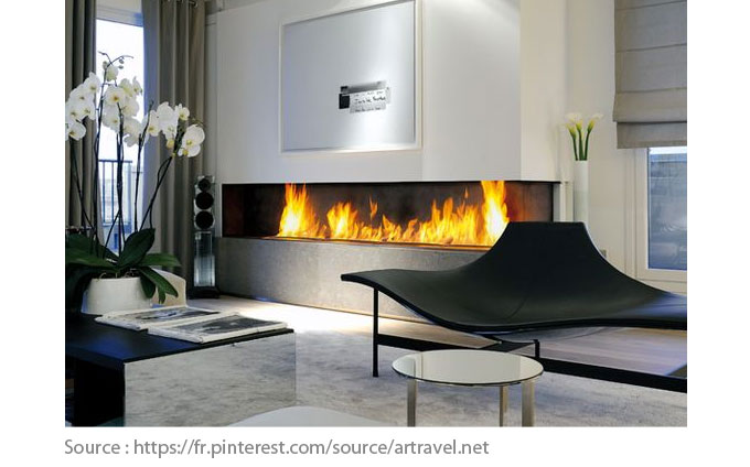 Fireplace - Contemporary style