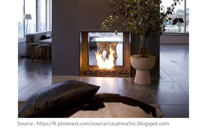 Fireplace idea with two possibilities