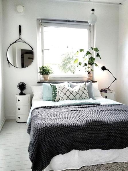 How to Arrange a Small Bedroom - use innovative lighting