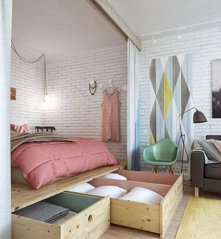 How to Arrange a Small Bedroom - Make the most use of the space