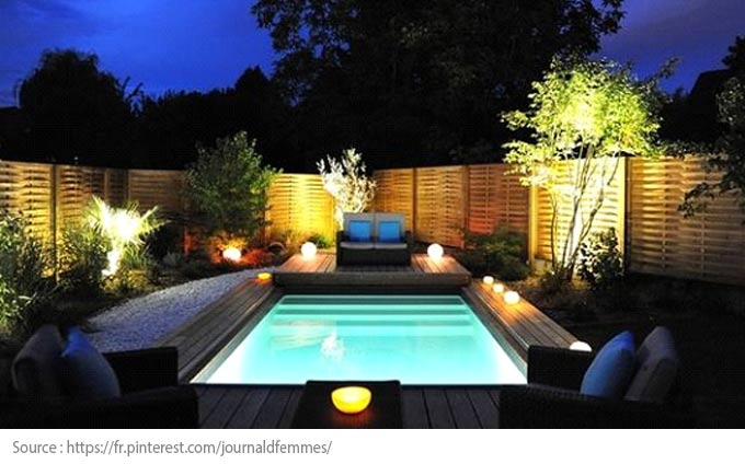 Pool Lighting: outside of the pool