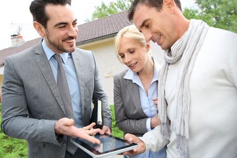 Your real estate broker advices you for buying or selling a home.