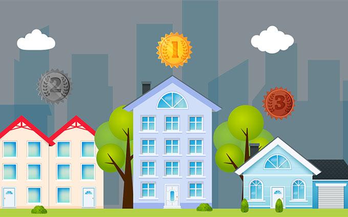 Illustration d'habitations