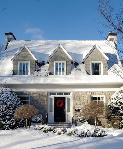 belle maison hiver
