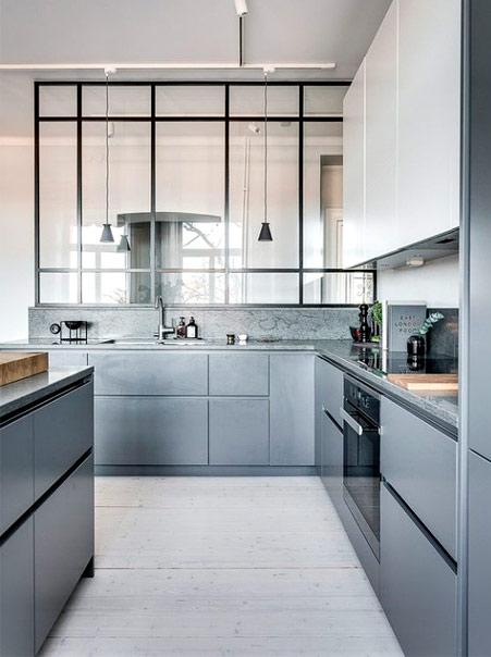 Une cuisine grise épurée