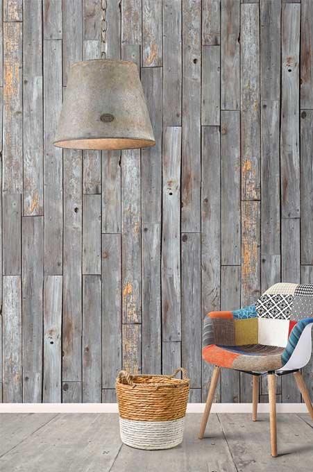 Papier-peint planches de bois