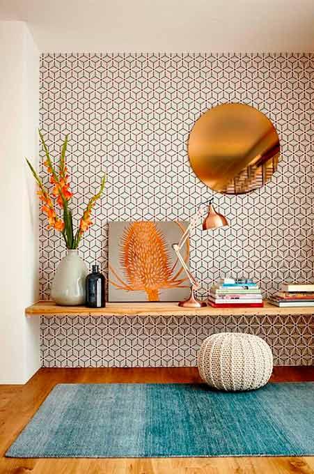 Papier-peint formes géométriques