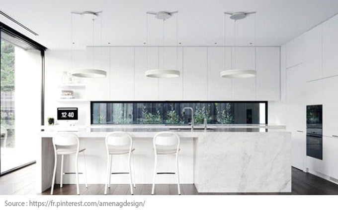 La cuisine blanche : moderne et chic - 9