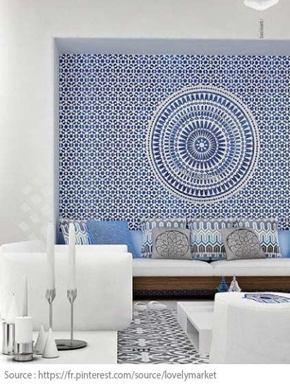 Cement Tiles - Sky blue