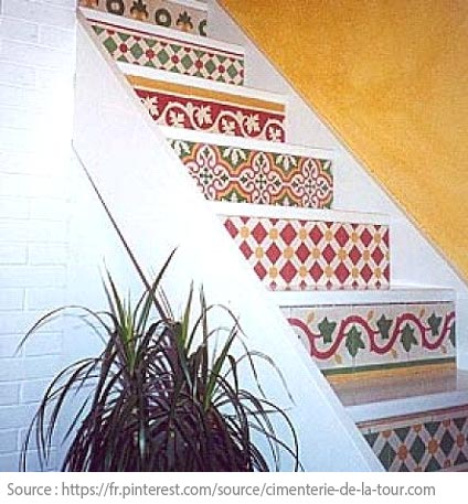 Cement Tiles - Step up in colour