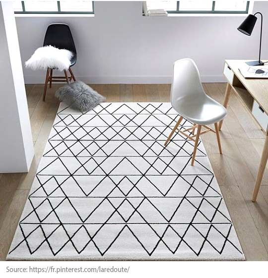 Decorating Trends: 10 Great Items to Discover! - A graphic carpet