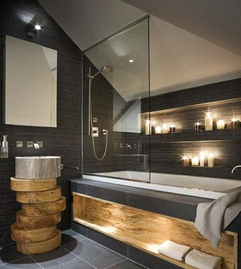 Salle de bain - Jouez avec l'éclairage