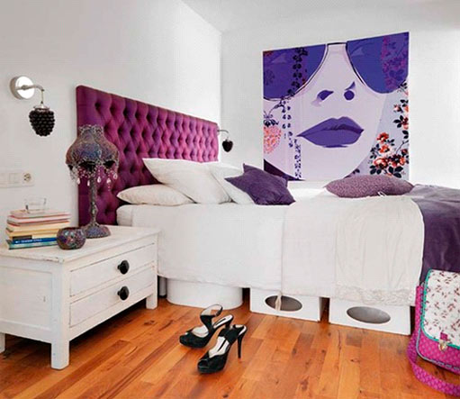 Une œuvre violette