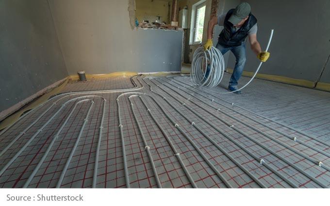 Combien coûte un plancher chauffant?